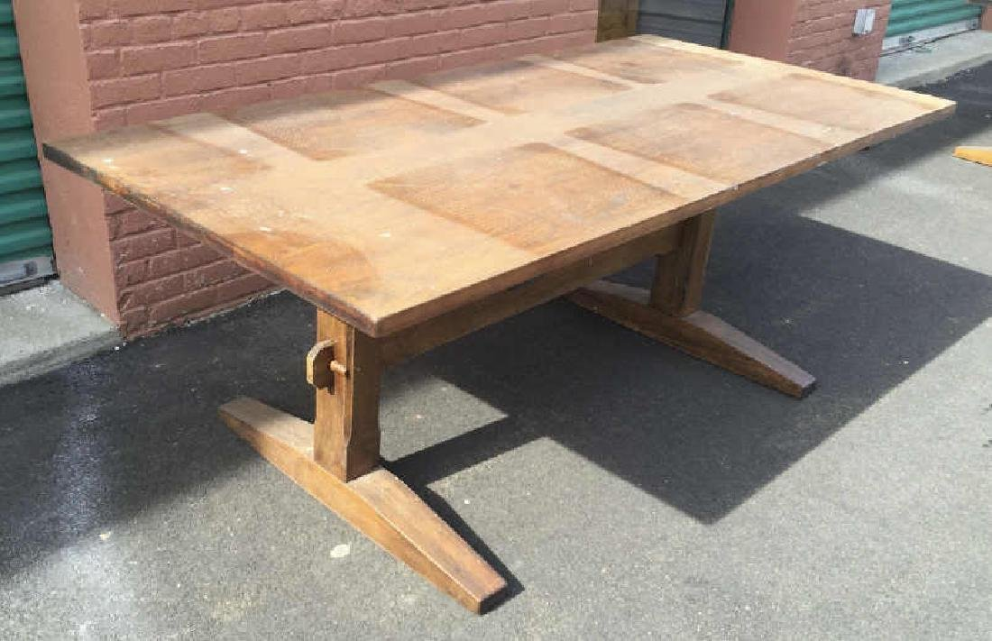 Contemporary Traditional Trestle Farm Dining Table