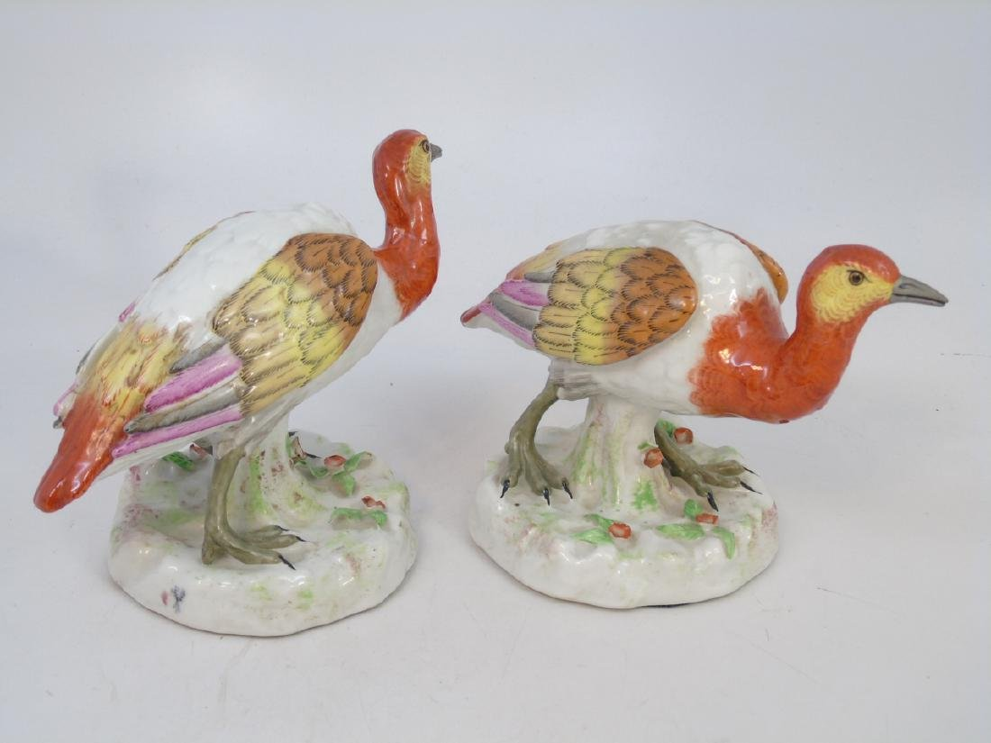 Two Pairs of Hand Painted Porcelain Bird Statues - 3