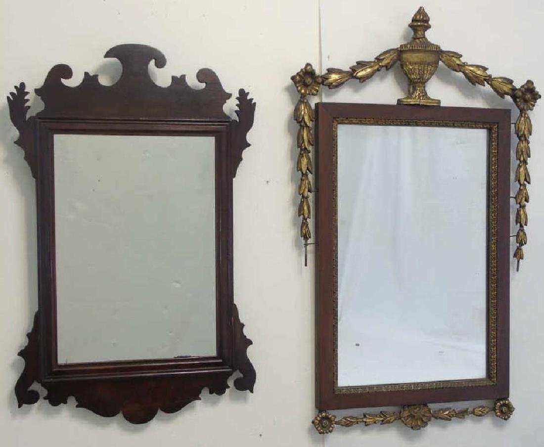 Two Antique Mirrors - Chippendale & Neo Classical