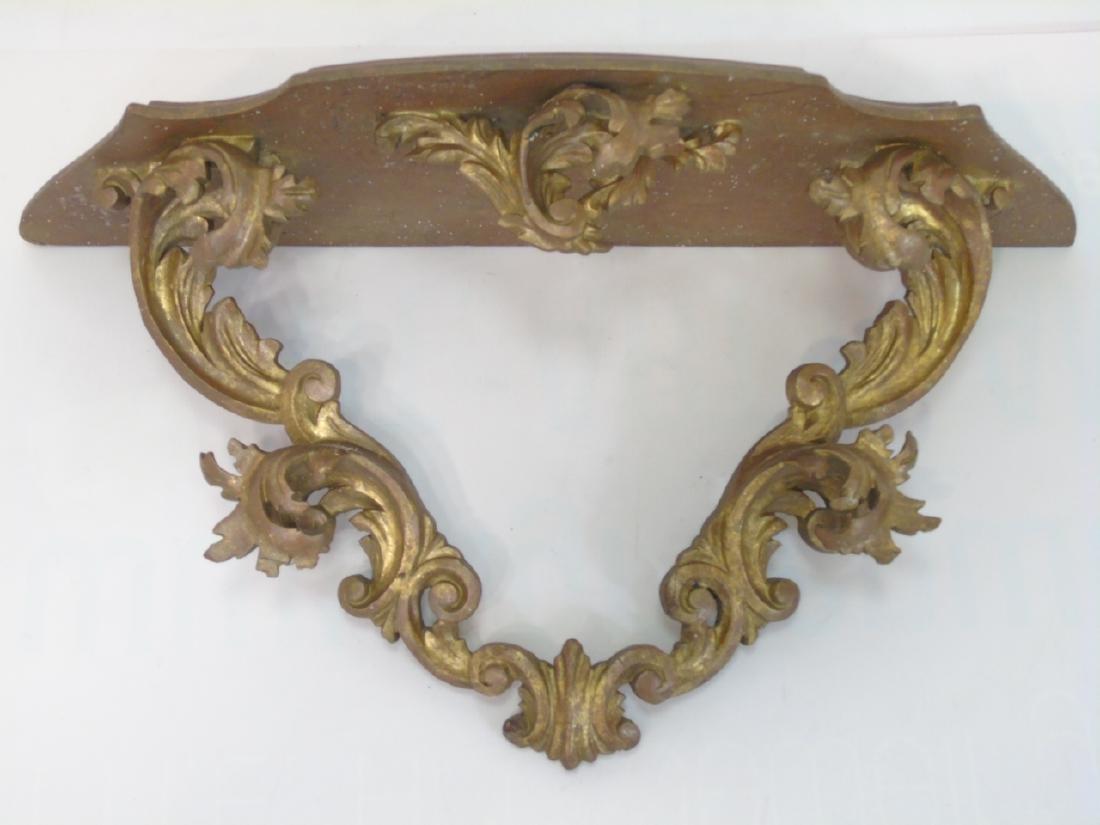 Antique Florentine Style Gold Leaf Wall Shelf