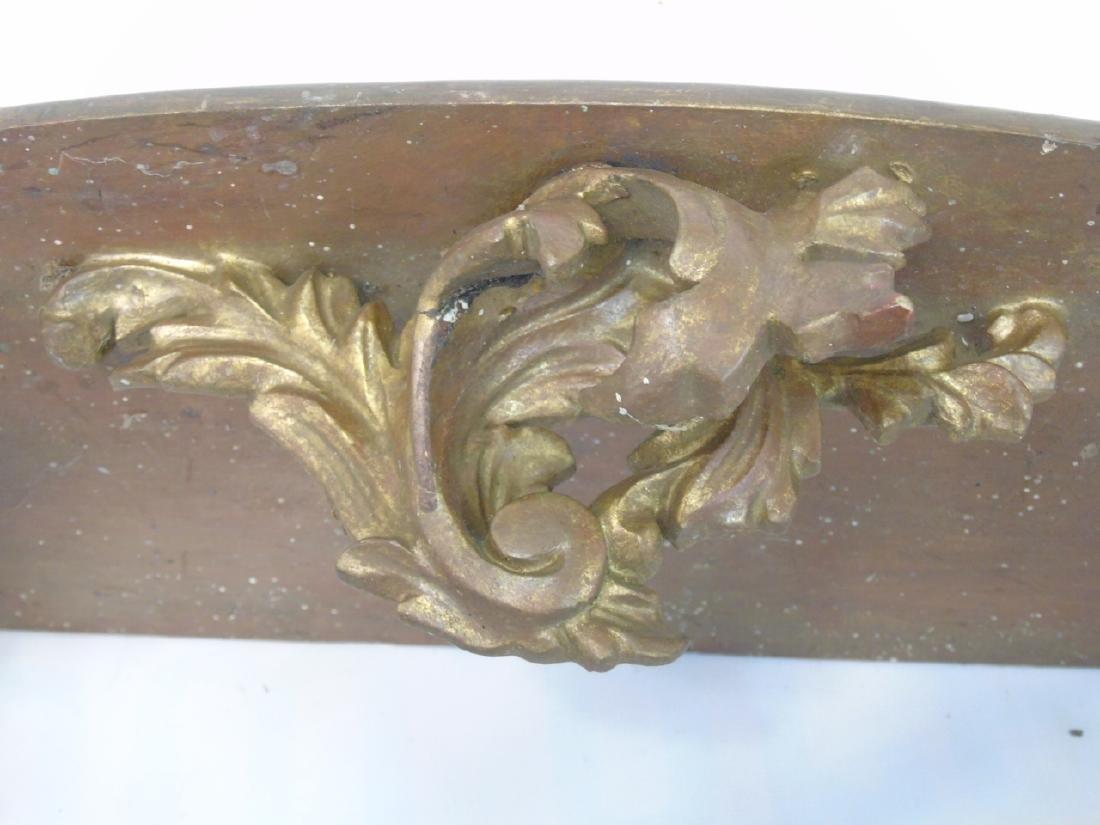 Antique Florentine Style Gold Leaf Wall Shelf - 2