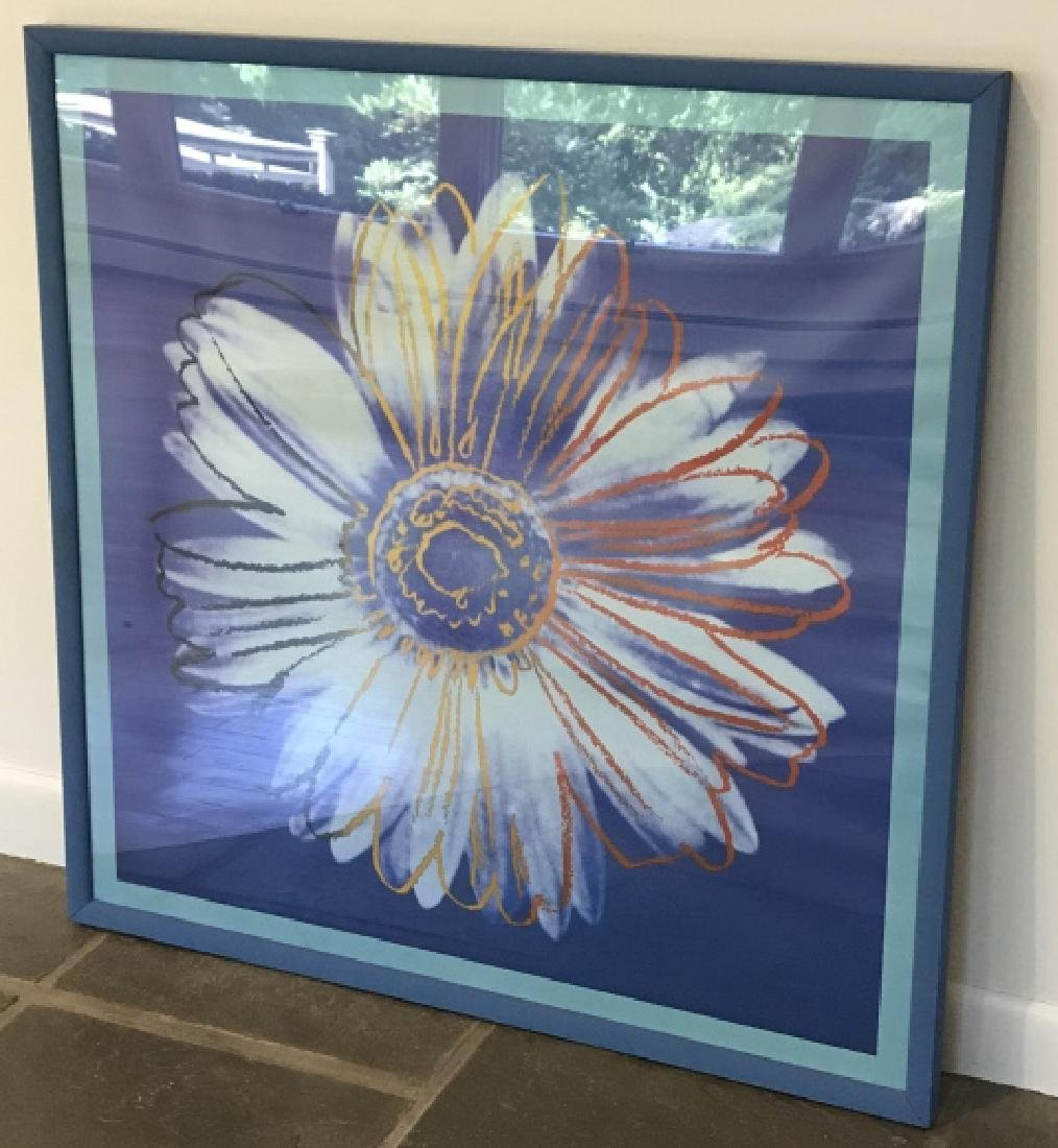 Contemporary Daisy Pop Art Print Framed
