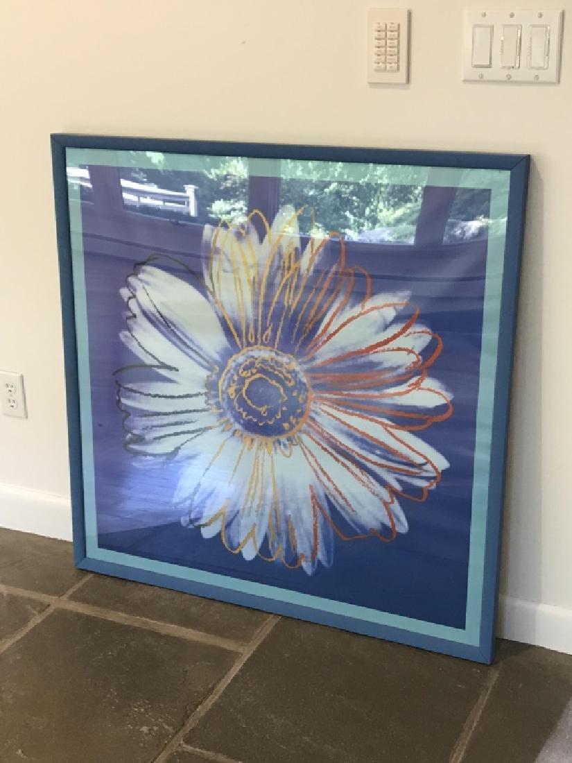 Contemporary Daisy Pop Art Print Framed - 3