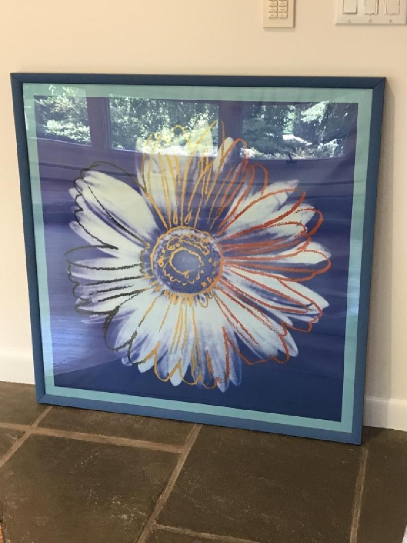 Contemporary Daisy Pop Art Print Framed - 4