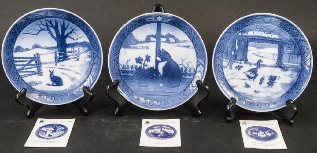 Kongeligt Porcelain Collectible Plates 69,70,71