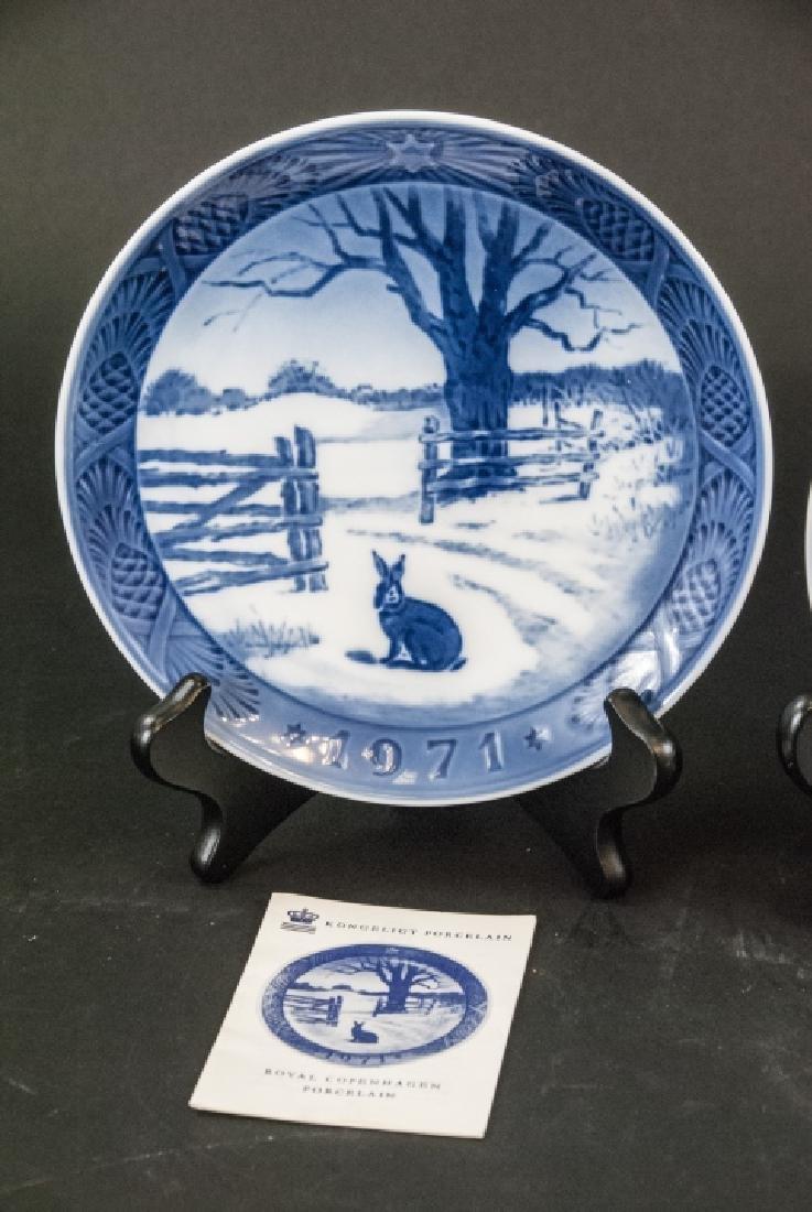Kongeligt Porcelain Collectible Plates 69,70,71 - 2