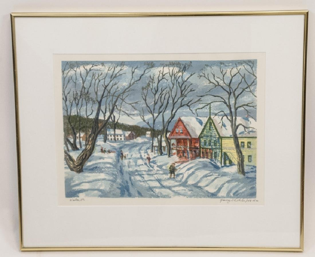 Harry Shokler Framed Print Weston, Vt., 1972
