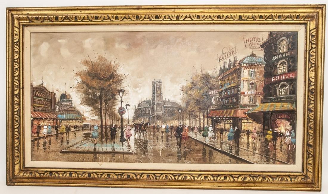 Original Oil Painting of Paris Cityscape