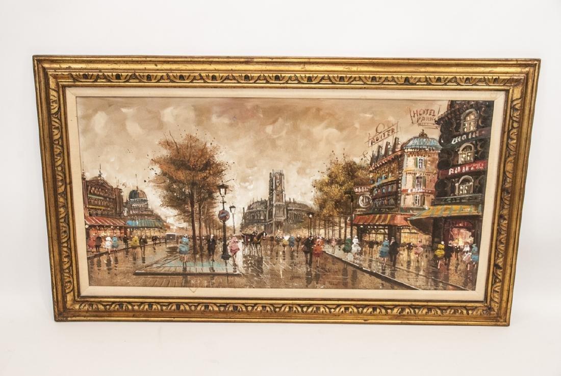 Original Oil Painting of Paris Cityscape - 2