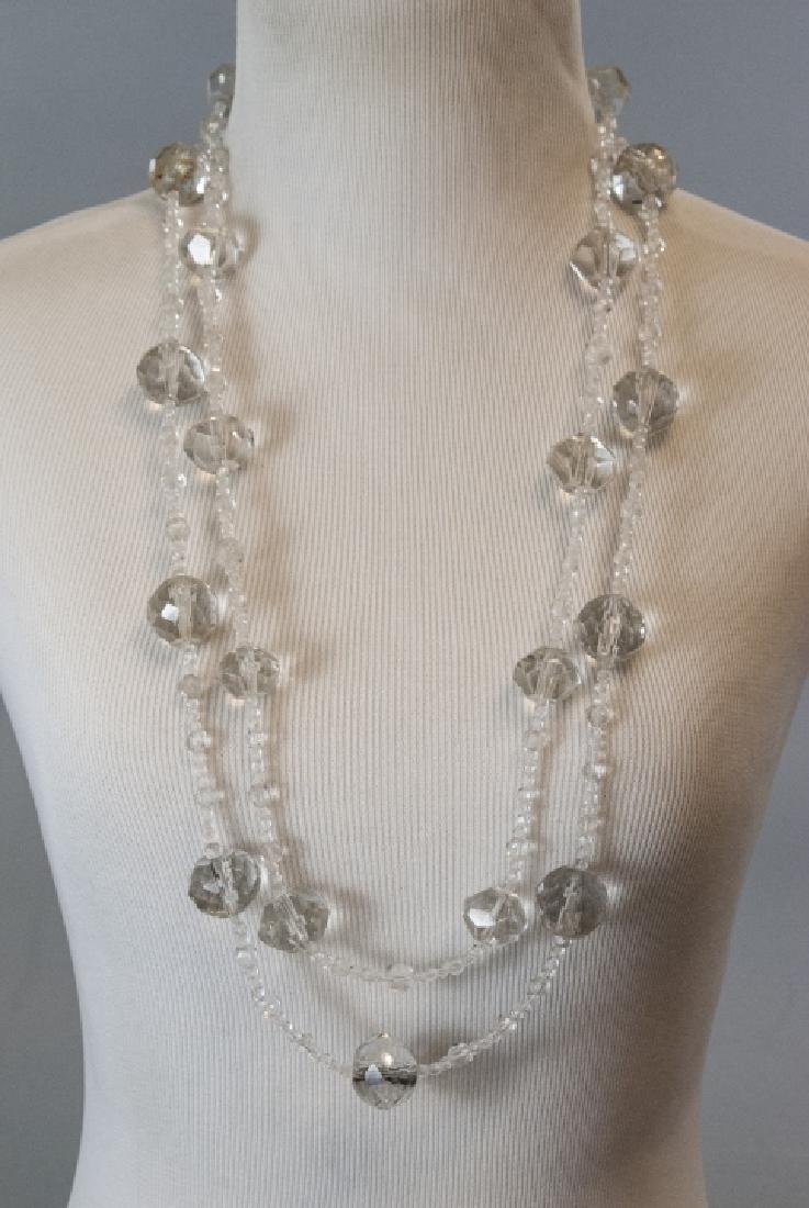 Necklace Strands w Antique Hand Cut Crystal Beads - 2