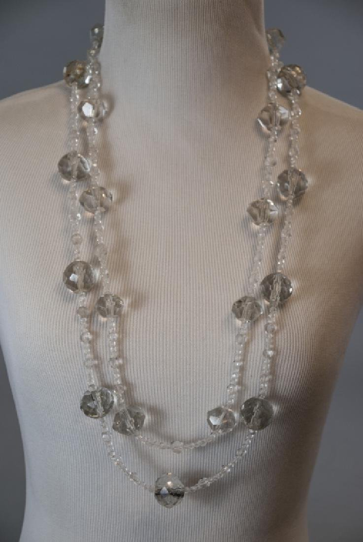 Necklace Strands w Antique Hand Cut Crystal Beads - 5