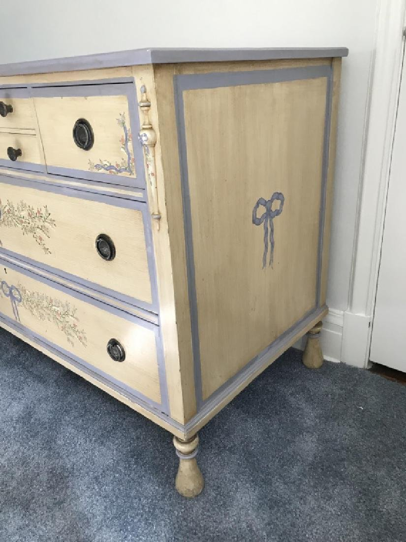 Hand Painted Early 20th C Chest of Drawers - 2