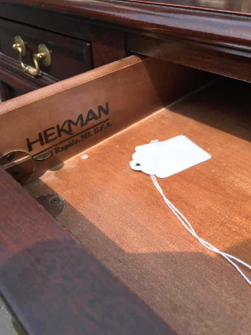 Hekman Embossed Leather Top Executive's Desk - 3