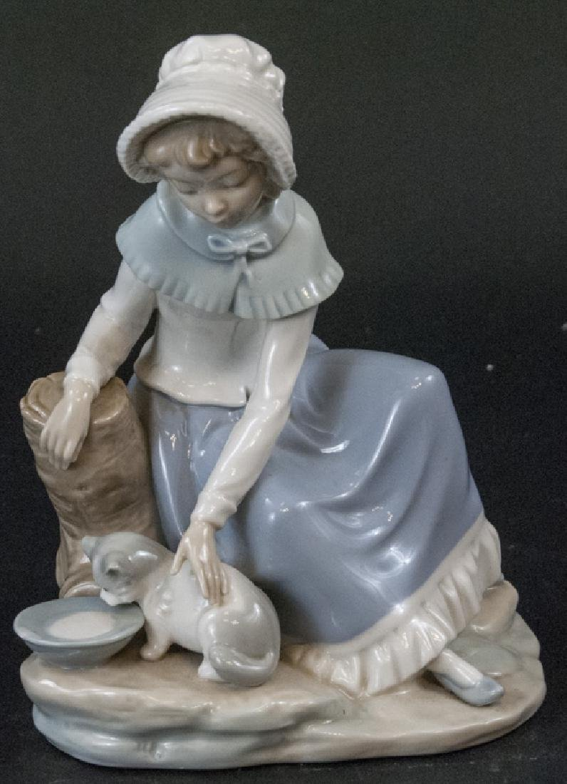 "Nao Lladro ""Milk For The Cat"" Porcelain Figurine"