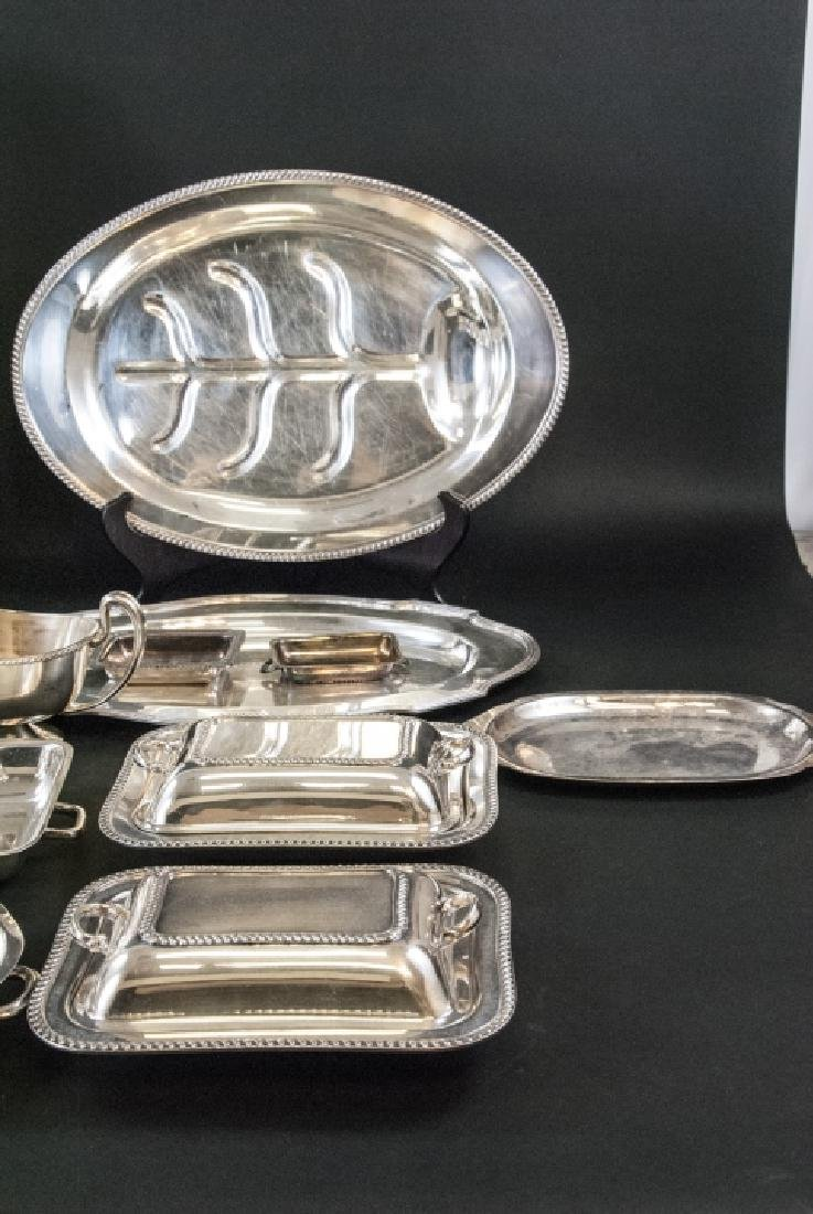 Large Collection Silver Plate Serving Ware & Trays - 2