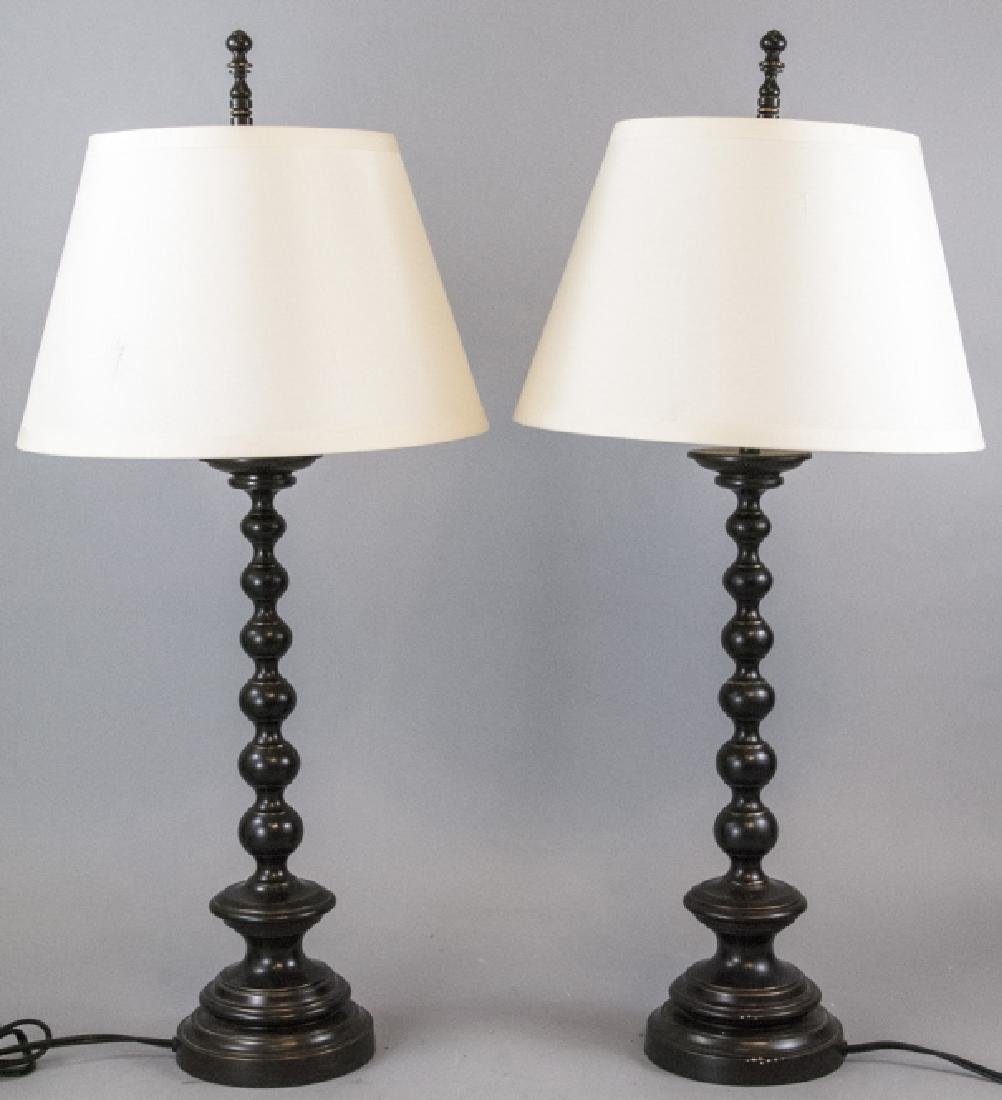 Pair Contemporary Restoration Hardware Lamps