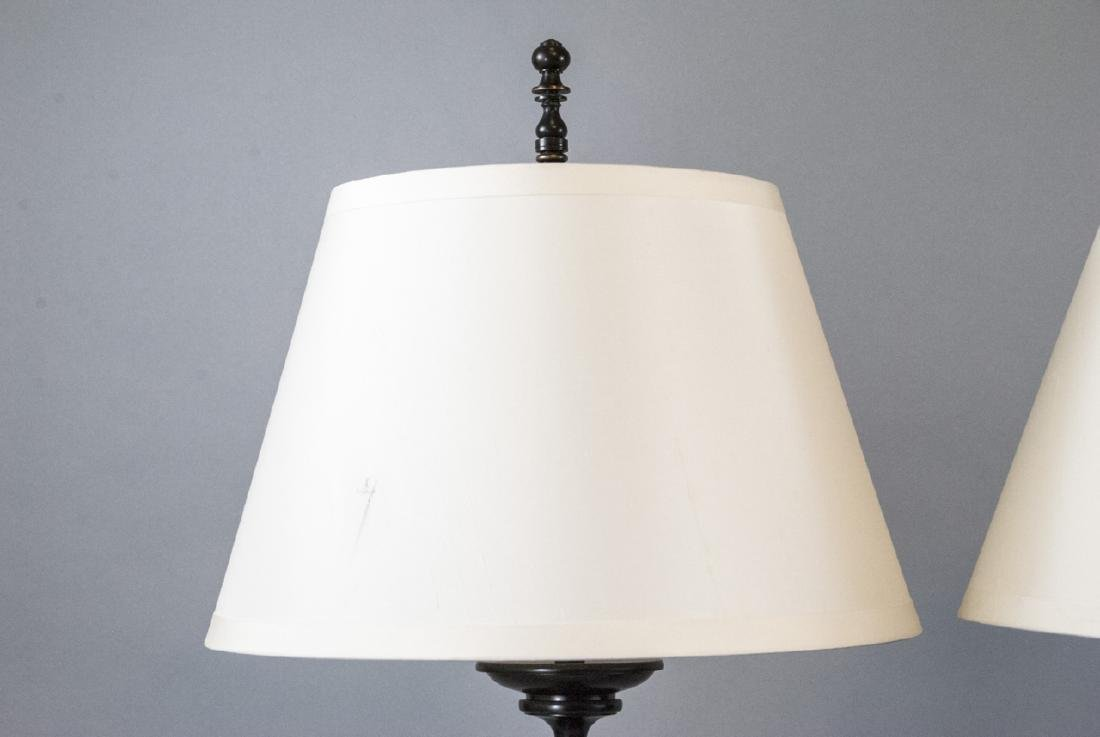 Pair Contemporary Restoration Hardware Lamps - 2
