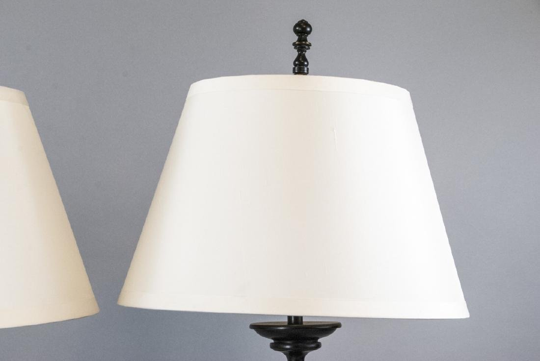 Pair Contemporary Restoration Hardware Lamps - 3
