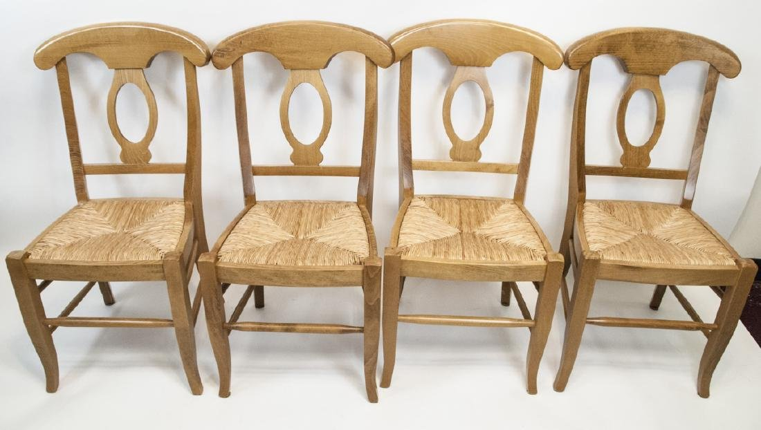 SIX Pottery Barn Napoleon Side Chairs in Natural