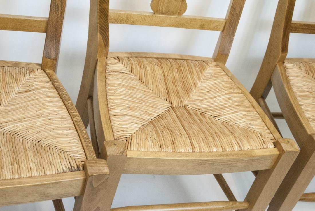 SIX Pottery Barn Napoleon Side Chairs in Natural - 2