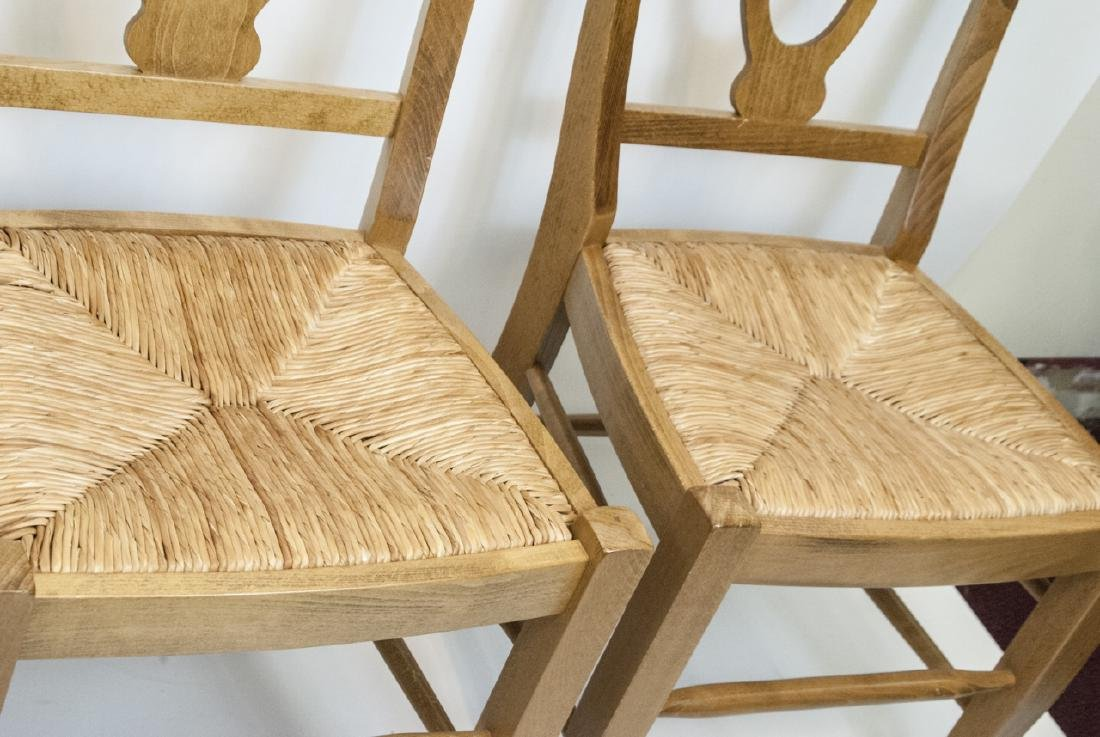SIX Pottery Barn Napoleon Side Chairs in Natural - 3