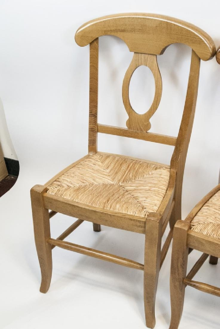 SIX Pottery Barn Napoleon Side Chairs in Natural - 4