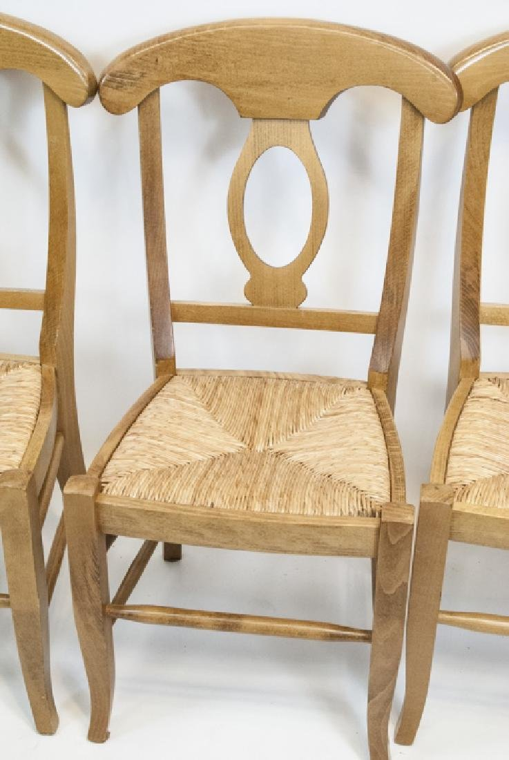 SIX Pottery Barn Napoleon Side Chairs in Natural - 5