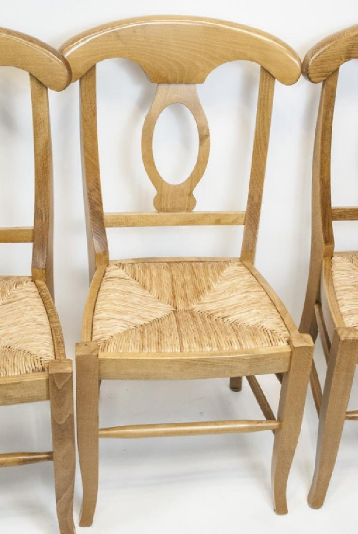 SIX Pottery Barn Napoleon Side Chairs in Natural - 6