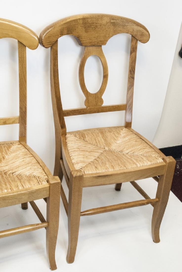 SIX Pottery Barn Napoleon Side Chairs in Natural - 7