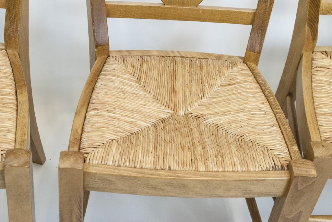 SIX Pottery Barn Napoleon Side Chairs in Natural - 9