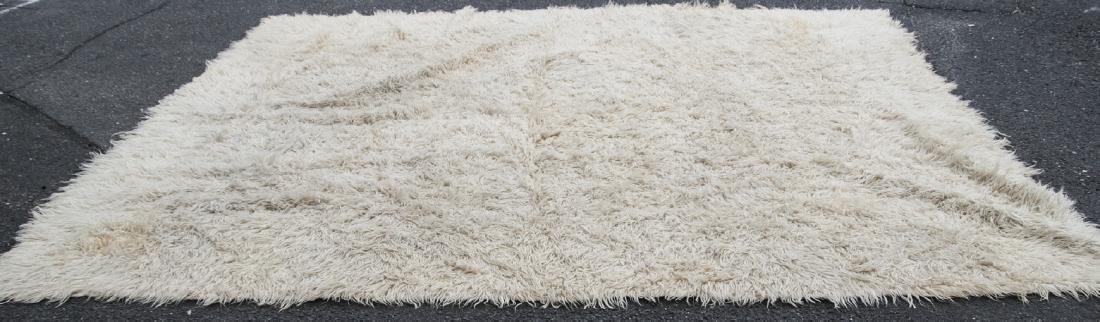 Natural Flokati Hand Woven Sheeps Wool Shag Rug