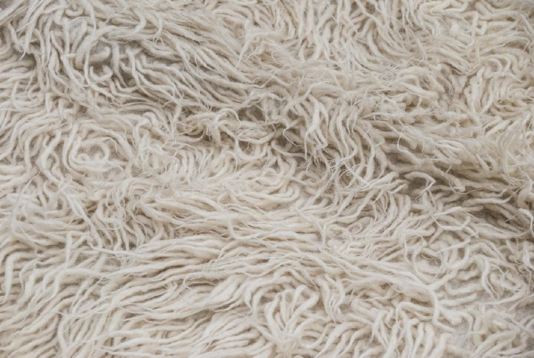 Natural Flokati Hand Woven Sheeps Wool Shag Rug - 2