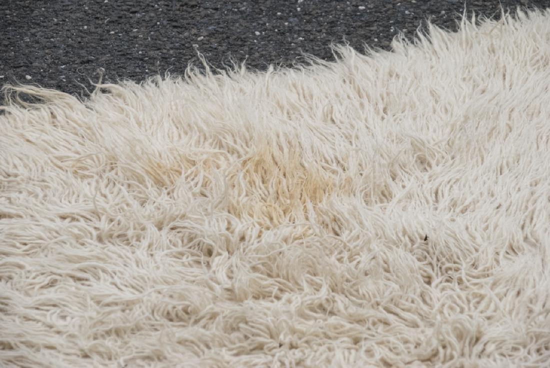 Natural Flokati Hand Woven Sheeps Wool Shag Rug - 4