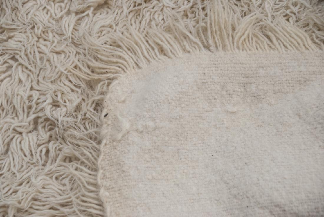 Natural Flokati Hand Woven Sheeps Wool Shag Rug - 5