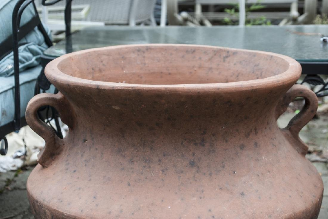 Terra Cotta Large Cache Planter with Handles - 2