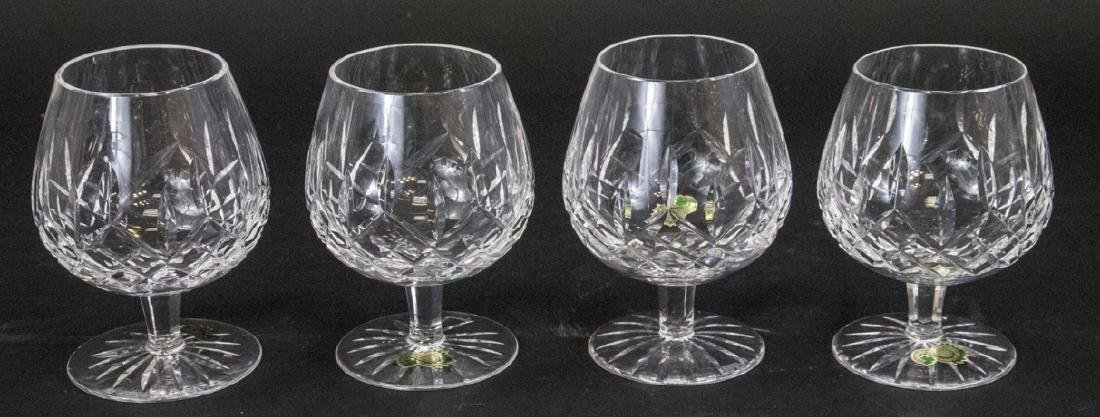 Four Waterford Cut Crystal Brandy Snifters