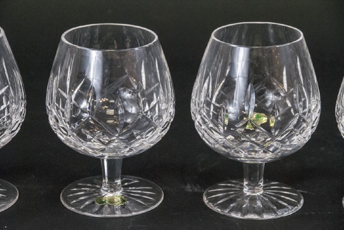 Four Waterford Cut Crystal Brandy Snifters - 3