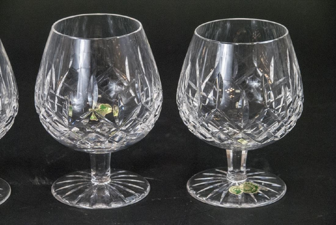 Four Waterford Cut Crystal Brandy Snifters - 4
