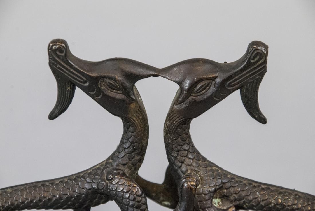 Antique / Vintage Chinese Bronze Dragon Sculpture - 2