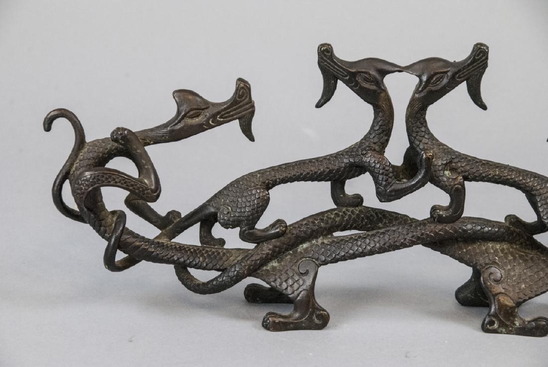 Antique / Vintage Chinese Bronze Dragon Sculpture - 4