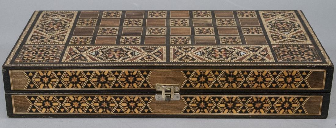Hand Made Inlaid Backgammon Board / Box