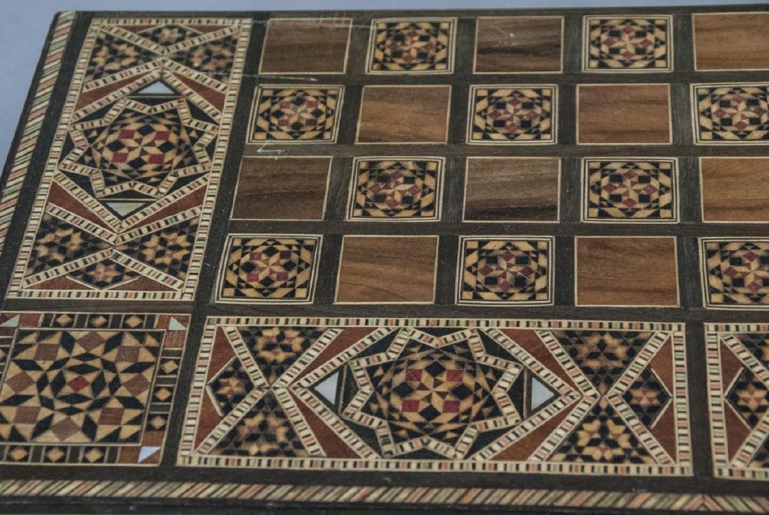 Hand Made Inlaid Backgammon Board / Box - 2