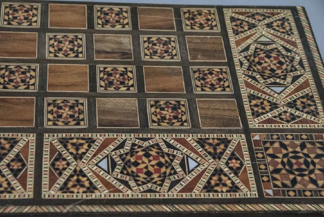 Hand Made Inlaid Backgammon Board / Box - 3