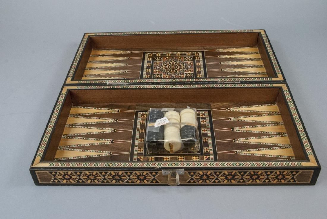 Hand Made Inlaid Backgammon Board / Box - 4