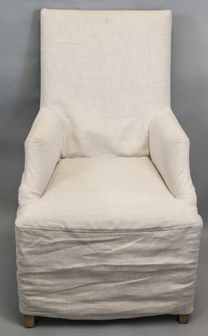 Slip Covered Slipper Chair Restoration Hardware