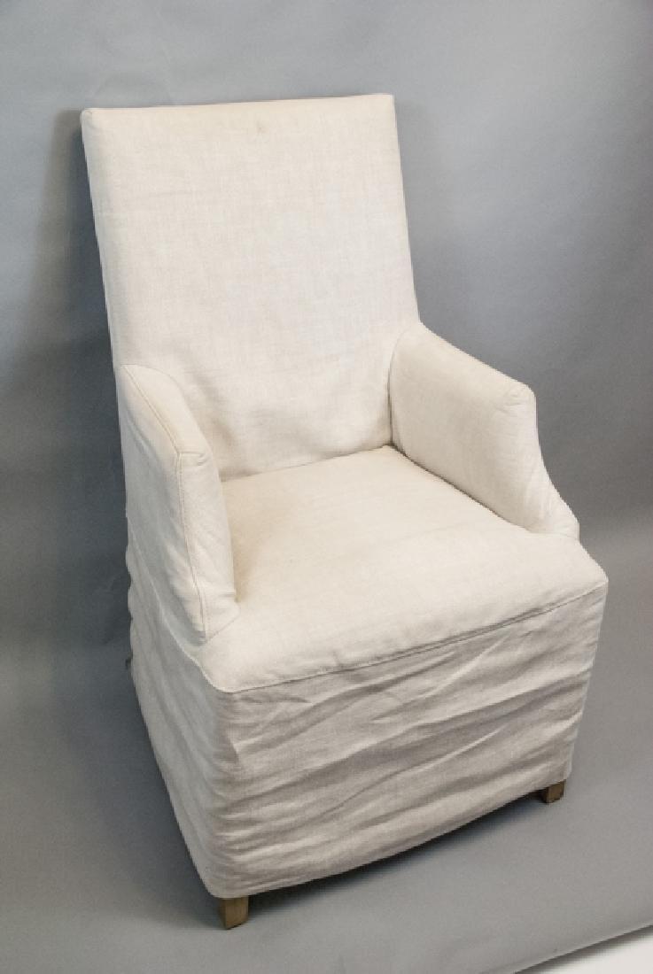 Slip Covered Slipper Chair Restoration Hardware - 2