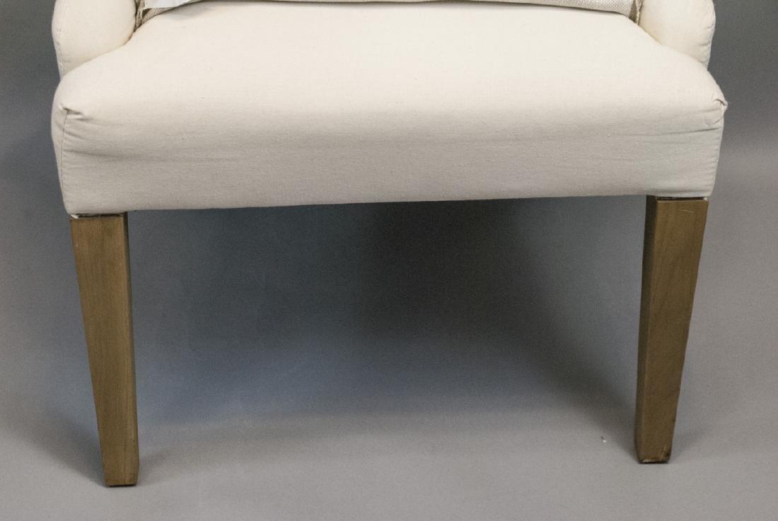 Slip Covered Slipper Chair Restoration Hardware - 3