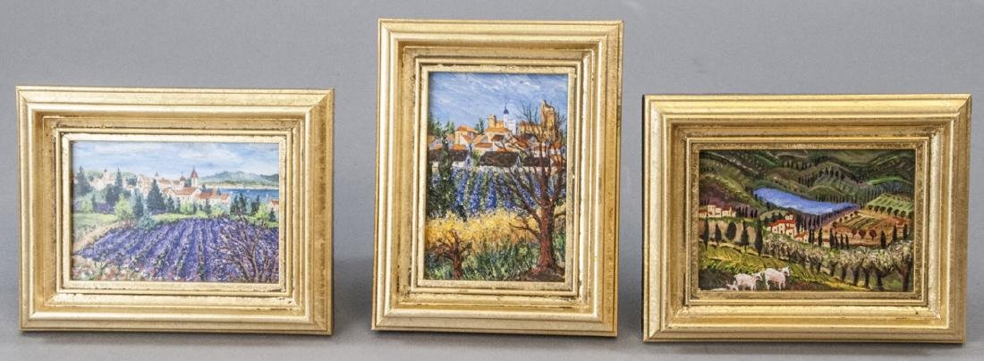 3 Miniature Giclees French Lavender Fields