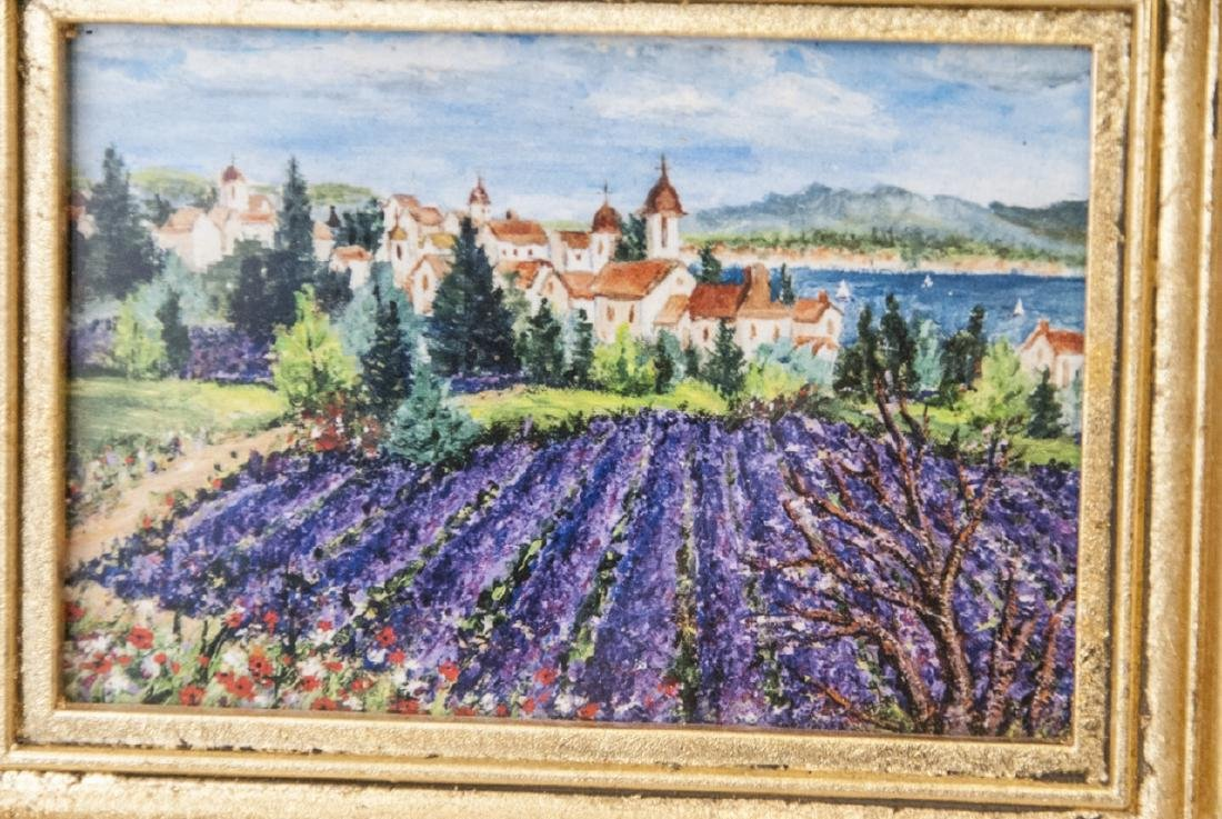 3 Miniature Giclees French Lavender Fields - 2