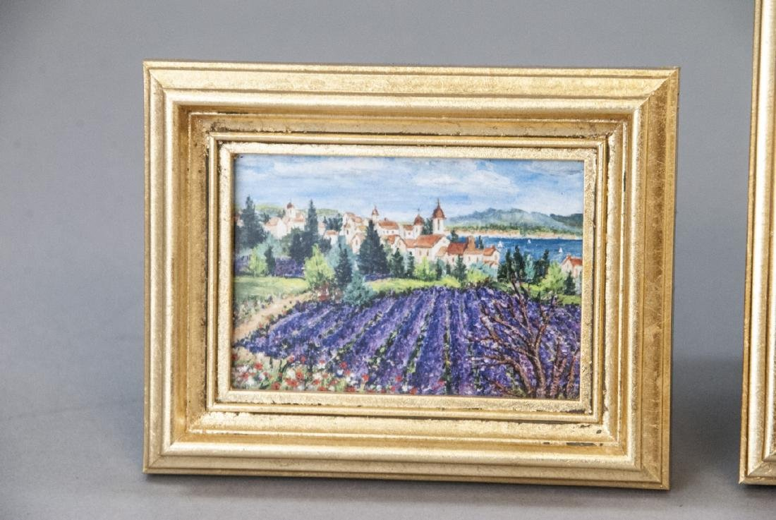 3 Miniature Giclees French Lavender Fields - 6